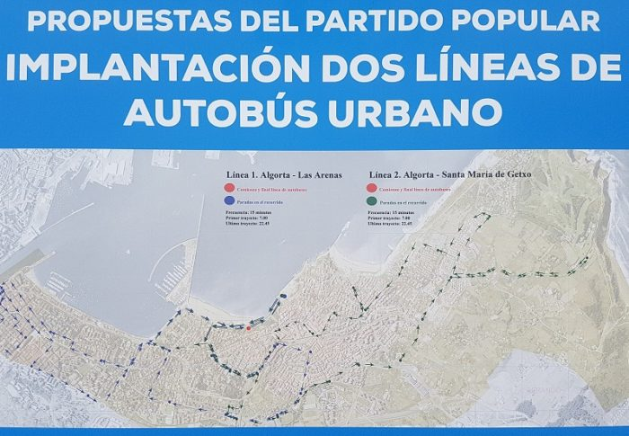 Andrade apuesta por la creación de un autobús urbano que una los diferentes barrios de Getxo